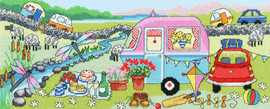 Caravan Fun Cross Stitch Kit by Bothy Threads