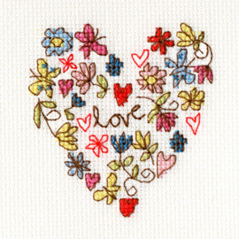 Sweet Heart Cross Stitch Card from Bothy Threads