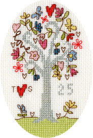 Silver Celebration Cross Stitch Card By Bothy Threads