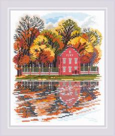 Kuskovo Dutch House cROSS Stitch From Riolis