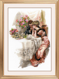 First Evening in Their Own Home Cross Stitch Kit By Riolis