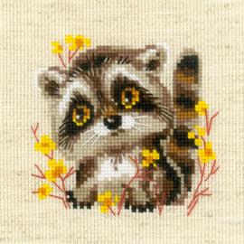 Little Racoon Cross Stitch Kit By Riolis