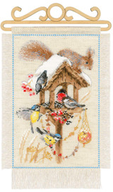 Cottage Garden Winter Cross Stitch Kit By Riolis
