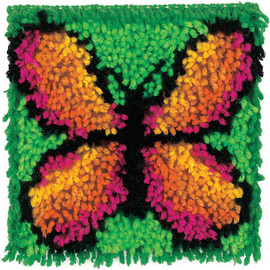 Butterfly Larch Hook Rug Kit By Wonderart - Caron
