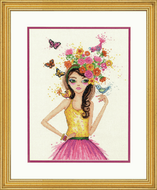 Counted Cross Stitch Kit: Spring Time By Dimensions