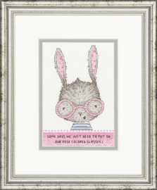 Counted Cross Stitch Kit: Rose Colored Glasses by Dimensions