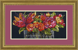 Counted Cross Stitch Kit: Flowers of Joy By Dimensions