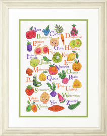 Counted Cross Stitch Kit: Fruits & Veggies By Dimensions
