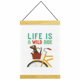 Counted Cross Stitch Kit: Banner: Wild Ride By Dimensions