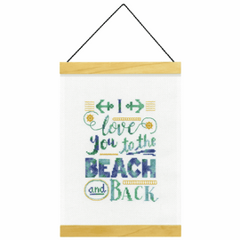Counted Cross Stitch Kit: Banner: Beach and Back By Dimensions