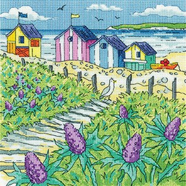 Sea Holly Shore Cross Stitch Kit By Heritage