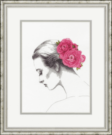 Counted Cross Stitch: Floral Portrait By Dimensions