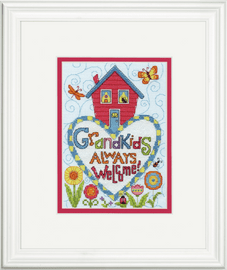 Counted Cross Stitch: Grandkids By Dimensions