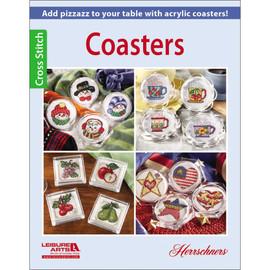 Leisure Arts Cross Stitch Book - Coasters