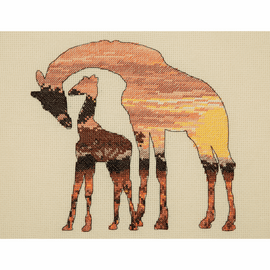 Giraffes Silhouette Cross Stitch Kit by Maia