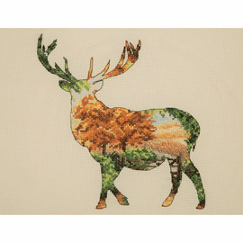 Stag Silhouette cross stitch Kit by Maia