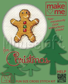 Make Me Gingerbread Man Cross Stitch Kit by Mouseloft