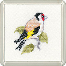Goldfinch Coaster Cross Stitch Kit By Heritage Crafts