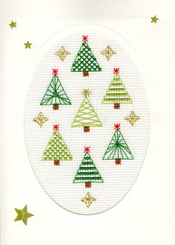Christmas Card – Christmas Forest Cross Stitch Card Kit