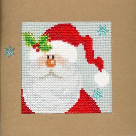Christmas Card – Snowy Santa Cross Stitch Card Kit