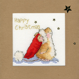 Christmas Card – Star Gazing Cross Stitch Card Kit