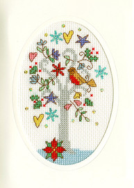 Christmas Card – Winter Wishes Cross Stitch Card Kit