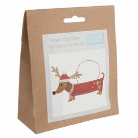 Felt Decoration Kit: Festive Dachshund By Trimits