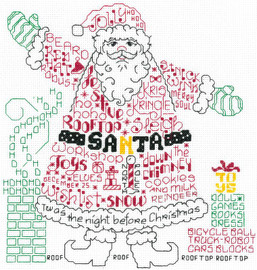 Lets Find Santa Cross stitch Chart
