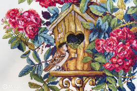 Rose Bush Counted Cross Stitch Kit by Merejka