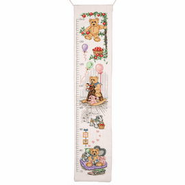 Counted Cross Stitch Kit: Essentials: Teddy Height Chart By Anchor