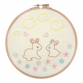 Embroidery Hoop Kit: Bunnies and Butterflies By Anchor