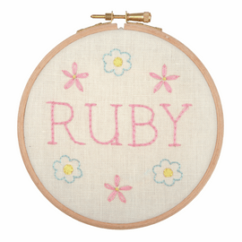 Embroidery Hoop Kit: Baby Name Plate Kit By Anchor