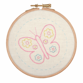 Embroidery Hoop Kit: Beautiful Butterfly by Anchor