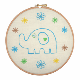 Embroidery Hoop Kit: Dad Elephant By Anchor