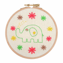 Embroidery Hoop Kit: Baby Elephant By Anchor