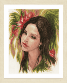 Counted Cross Stitch Kit Bewitching Youth By Lanarte