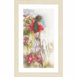 Counted Cross Stitch Kit: In the Fields by Lanarte