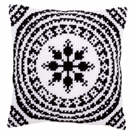Cross Stitch Kit: Cushion: Black and White By Vervaco