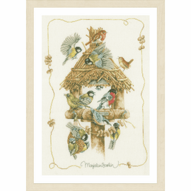 Counted Cross Stitch Kit: Birdhouse By Lanarte