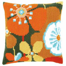 Cross Stitch Kit: Cushion: Retro Flowers 2