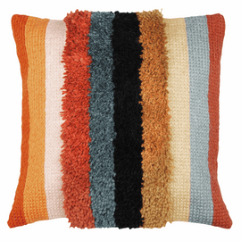 Latch Hook & Chain Stitch Kit: Cushion: Boho: Stripes