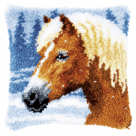 Latch Hook Kit: Cushion: Horse