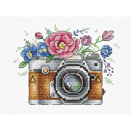 Flower Photo Cross Stitch Kit On Water Soluble Canvas by MP Studia