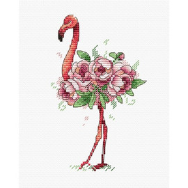 Flamingo Cross Stitch Kit by Oven