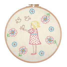 Embroidery Hoop Kit: Feeding the Birds By Anchor