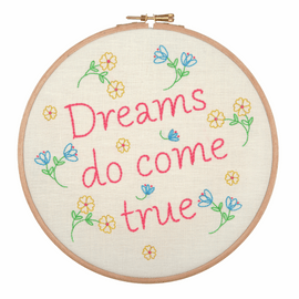 Embroidery Hoop Kit: Dreams do Come True By Anchor