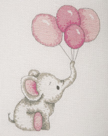 Counted Cross Stitch Kit: Baby Sets: Girl Balloons By Anchor