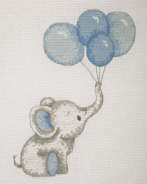 Counted Cross Stitch Kit: Baby Sets: Boy Balloons By Anchor