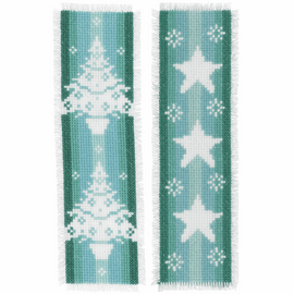 Counted Cross Stitch Kit: Bookmarks: Winter: Set of 2 By Vervaco