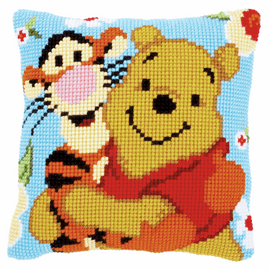 Cross Stitch Cushion Kit: Disney: Winnie and Tigger by vervaco